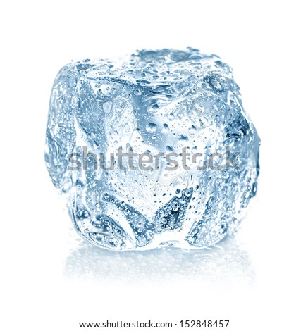ice cube isolated - stock photo