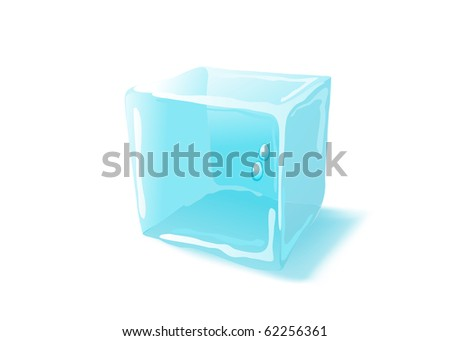 Ice cube. Raster version. Vector version is in my gallery - stock photo