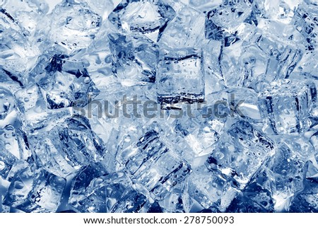 Ice cubes close-up background - stock photo