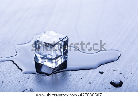 Ice cubes cool for your beverage - stock photo