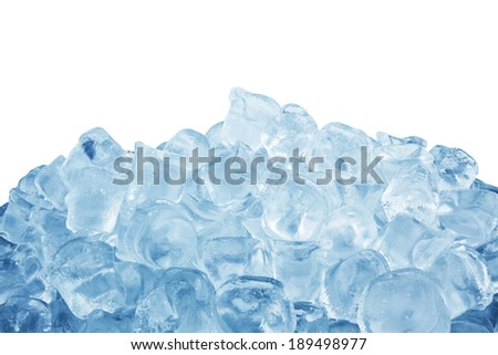 Ice cubes isolated on a white background  - stock photo