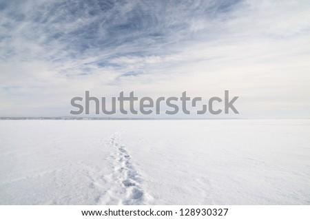 ice desert winter landscape - stock photo