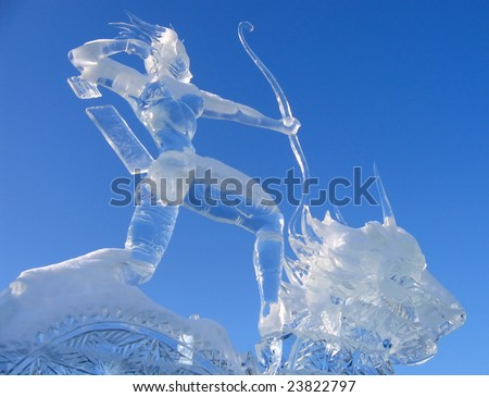 ice figure - stock photo
