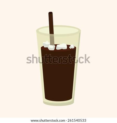 ice floating coffee theme elements - stock photo