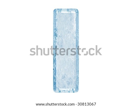 Ice font.Lower case.With clipping path. - stock photo