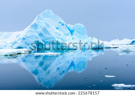 Ice formations in Antarctica - stock photo