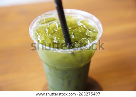 Ice grean tea - stock photo