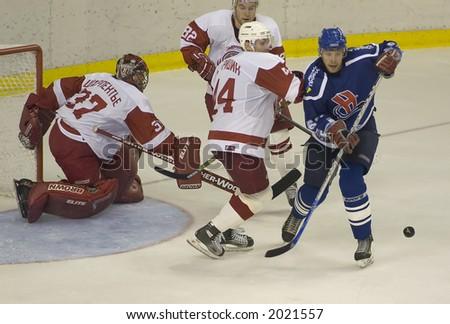 Ice Hockey. Frame #5. - stock photo