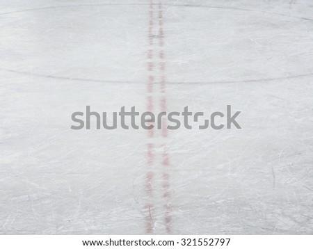 Ice hockey rink markings, winter sport texture - stock photo