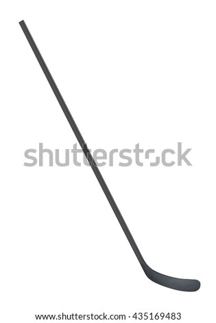 Ice hockey stick isolated on white - stock photo