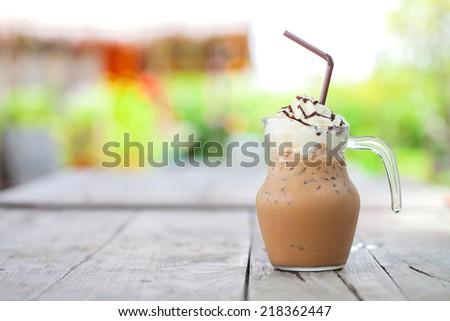 Ice mocha coffee  - stock photo