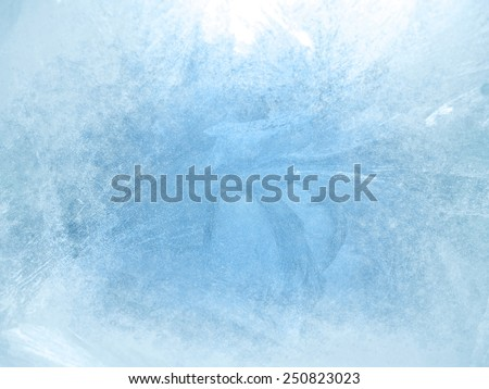 Ice on a window, background - stock photo