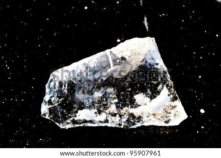 ice on black - stock photo