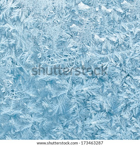 Ice patterns in the background - stock photo