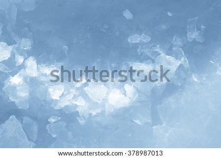 ice pieces background texture - stock photo