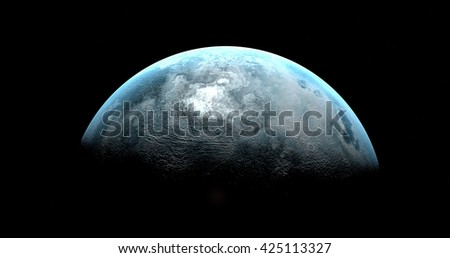 Ice planet - stock photo