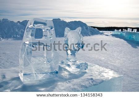 Ice sculpture - stock photo