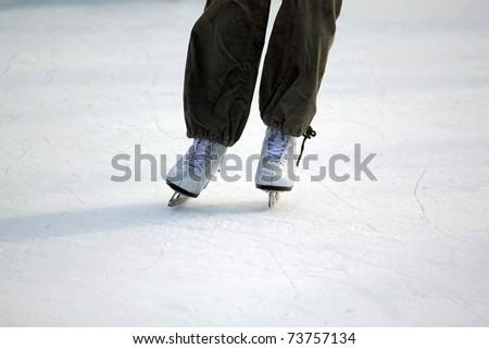 ice skating - stock photo