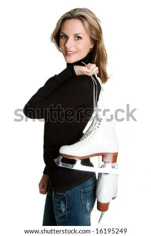 Ice Skating Woman - stock photo