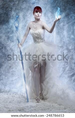 Ice sorceress - stock photo