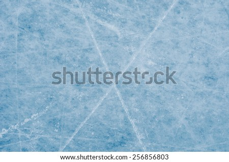 Ice surface on skating rink - stock photo