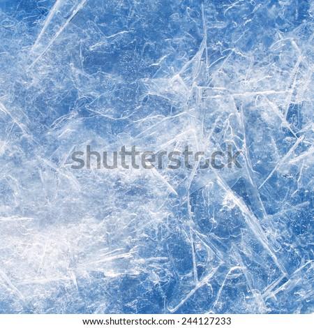 Ice texture closeup background. - stock photo