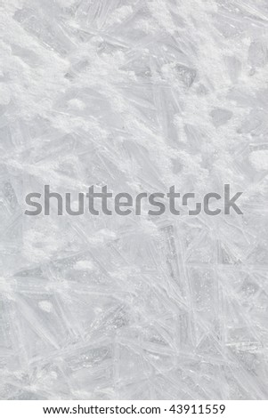 ice texture in the northeast of china - stock photo