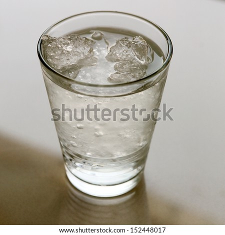 Ice water for drink - stock photo