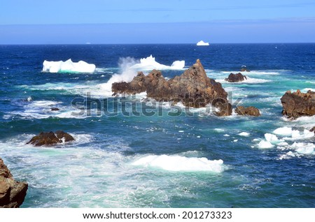Iceberg, Cape Bonavista Newfoundland Canada - stock photo