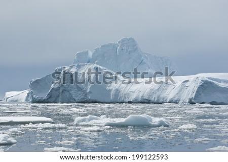 Iceberg in Antarctic Ocean - 1. - stock photo