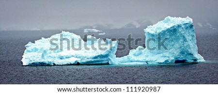 Iceberg in Antarctica - stock photo
