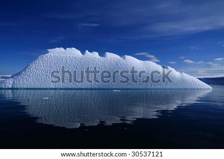 Iceberg in Antarctica - stock photo