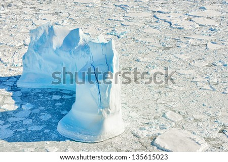 Iceberg in Greenland in spring time - stock photo