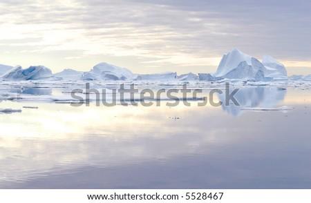 Iceberg - Northeast Greenland National Park - stock photo