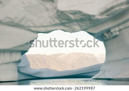 Iceberg - Scoresby Sound - Greenland - stock photo