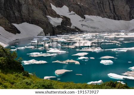 Iceberg Trail in Glacier National Park, Montana, USA - stock photo