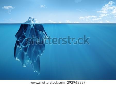iceberg underwater - stock photo