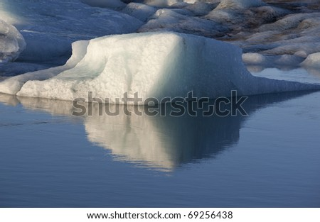 Icebergs At J�¶kulsarlon in Iceland - stock photo