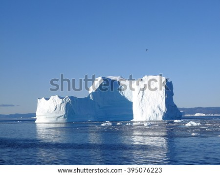 Icebergs, Icefjord, Ilulissat, Greenland - stock photo