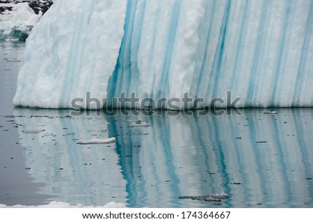 Icebergs in Disko bay, North Greenland - stock photo