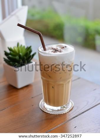 Iced Cappuccino - stock photo