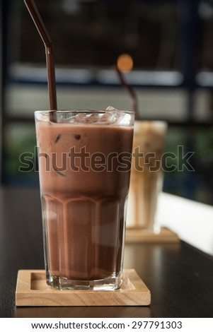 Iced Chocolate - stock photo