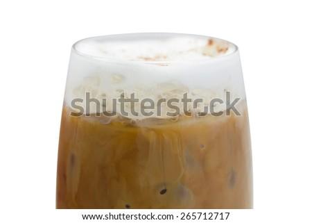 Iced coffee (Iced Cappuccino) - stock photo