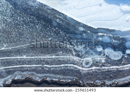 iced dirty pool texture - stock photo
