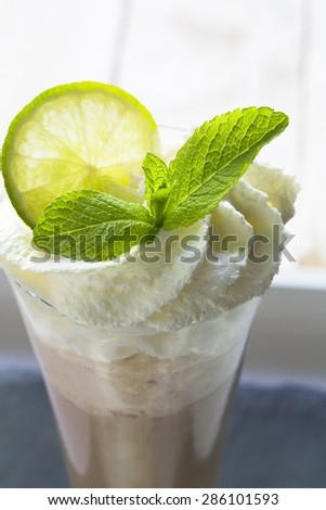 Iced Frappe Cappuccino - stock photo