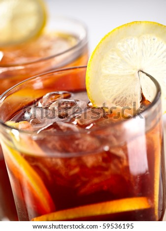 iced tea chilled - stock photo