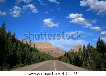 Icefields Parkway in Banff National Park, Alberta, Canada. - stock photo