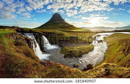 Iceland landscape - stock photo