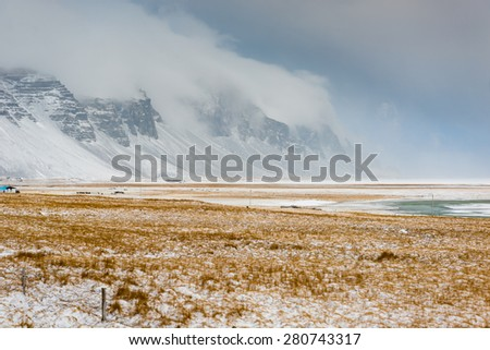 Iceland Landscape : Winter Iceland Lanscape - stock photo