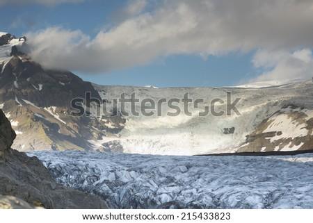 Iceland's Katla Geopark Glaciers - stock photo